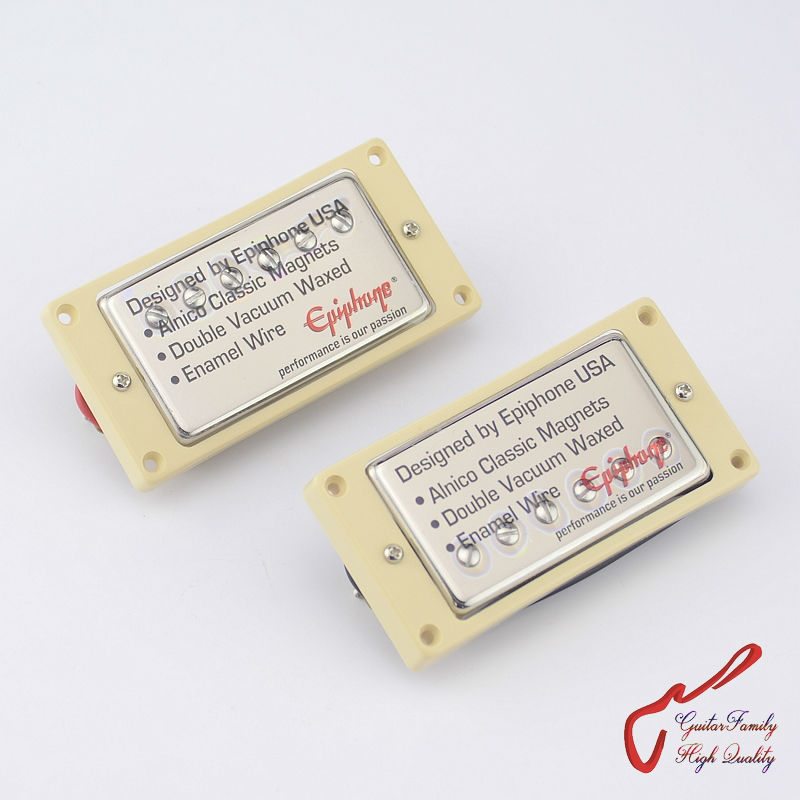 1 Set D'origine Véritable Epi Électrique Guitare Alnico Bar Humbucker Ramassage Nickel Couverture FAITE EN CORÉE