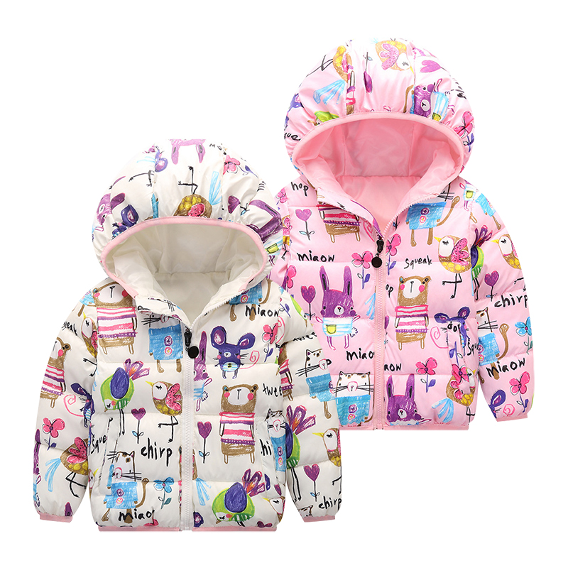 3-Colors Kids Coat Winter Jacket Warm hooded Down Handsome Jackets Teens Cartoon Boys Girls Coats Windproof Boy Children Clothes 3 colors fur hooded children down coats girls winter long jackets kids clothes fashion child warm jacket for girls coat 6 8 10 y