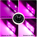 Dimmable 800W LED Grow Light ,4PCS Integrated 200W LEDs ,Sunlight High Lux Full Spectrum Best for plant growth and bloom(Blue)