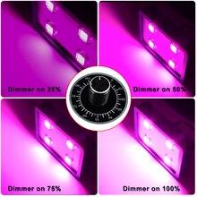 Regulable 800 W LED Crece La Luz, 4 UNIDS Integrado 200 W Led, luz solar de Alta Lux Full Spectrum Mejor para el crecimiento vegetal y la floración (Azul)