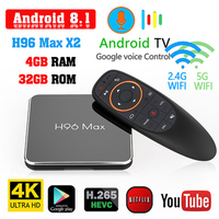 H96 MAX X2 4GB 32GB 64GB Android 8.1 TV Box S905 X2 USB3.0 1080P H.265 4K Set Top Box Google Play H96MAX Smart TV Player