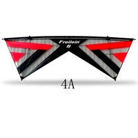 2.42 m Stunt Kite Professionele Outdoor Sport Quad Lijn Stunt Kite voor Fun Gift Gemakkelijk Vliegende 4 Lijn Macht Kite-in Vliegers en accessoires van Speelgoed & Hobbies op