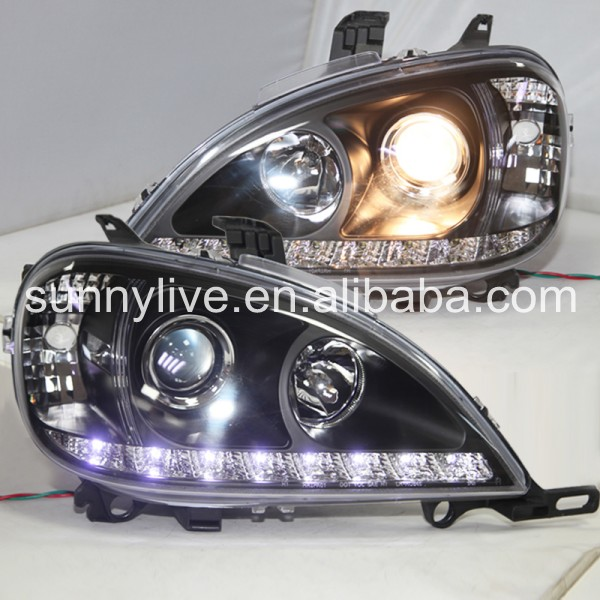 1998-2005 Year For Mercedes-Benz W163 ML320 ML350 ML430 ML450 LED headlight Black Color 18pc canbus led lamp interior map light kit package for mercedes m class w164 ml320 ml350 ml420 ml450 ml63 amg 2006 2011