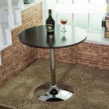 Кафе столы мебелью кафе-бар круглый стол журнальный столик минималистский современный Дерево из нержавеющей стали подъема стол горячей 60*60*80 см новые