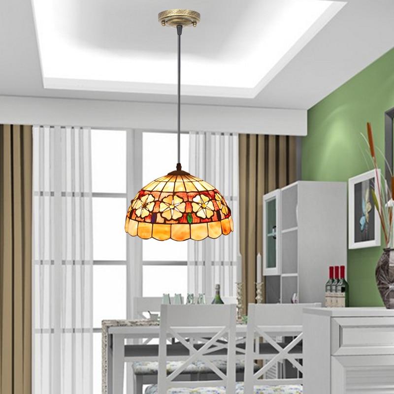 Shell pendant lamp chandelier lamp are restaurant study entrance balcony bar Chandelier european rural bird marble hemp rope chandelier cafe restaurant corridor balcony chandelier size 33 38cm e27 ac110 240v