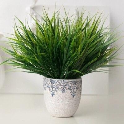 1 قطعة الأخضر العشب الاصطناعي النباتات البلاستيك الزهور المنزلية الزفاف الربيع الصيف غرفة المعيشة ديكور