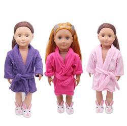 Passt 43 cm Baby Puppe Rose Rot Bademantel Kleidung Für 18 Zoll Mädchen Puppe Zubehör Die Kinder Beste Weihnachts Geschenk