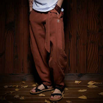 Traditional Chinese clothing for men wushu clothing kung fu pants linen male Chinese pants wing chun clothing   AA956 - DISCOUNT ITEM  45% OFF All Category