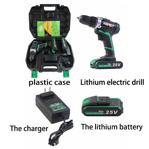 25V Electric Screwdriver Lithium Battery Rechargeable Parafusadeira Furadeira Multi-function Cordless Electric Drill Power Tools25V Electric Screwdriver Lithium Battery Rechargeable Parafusadeira Furadeira Multi-function Cordless Electric Drill Power Tools