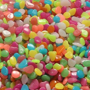 Image 2 - 50/100/300 sztuk świecące w ciemności kamienie świecące kamienie fluorescencyjne jasne kamyki świecące kamienie do akwarium ogród dekoracji