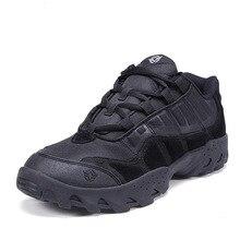 2016 Esdy Открытый Low Cut Лодыжки обувь Пустыня Тактические Боевые Сапоги Армейские Ботинки Botas Мужчины Работают Походные Ботинки