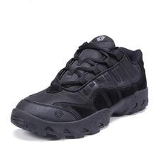 Лето 2017 г. Армейские ботинки Для мужчин дышащий пустыни безопасная обувь Путешествия обувь Военное Дело армии штурмовой Сапоги и ботинки для девочек
