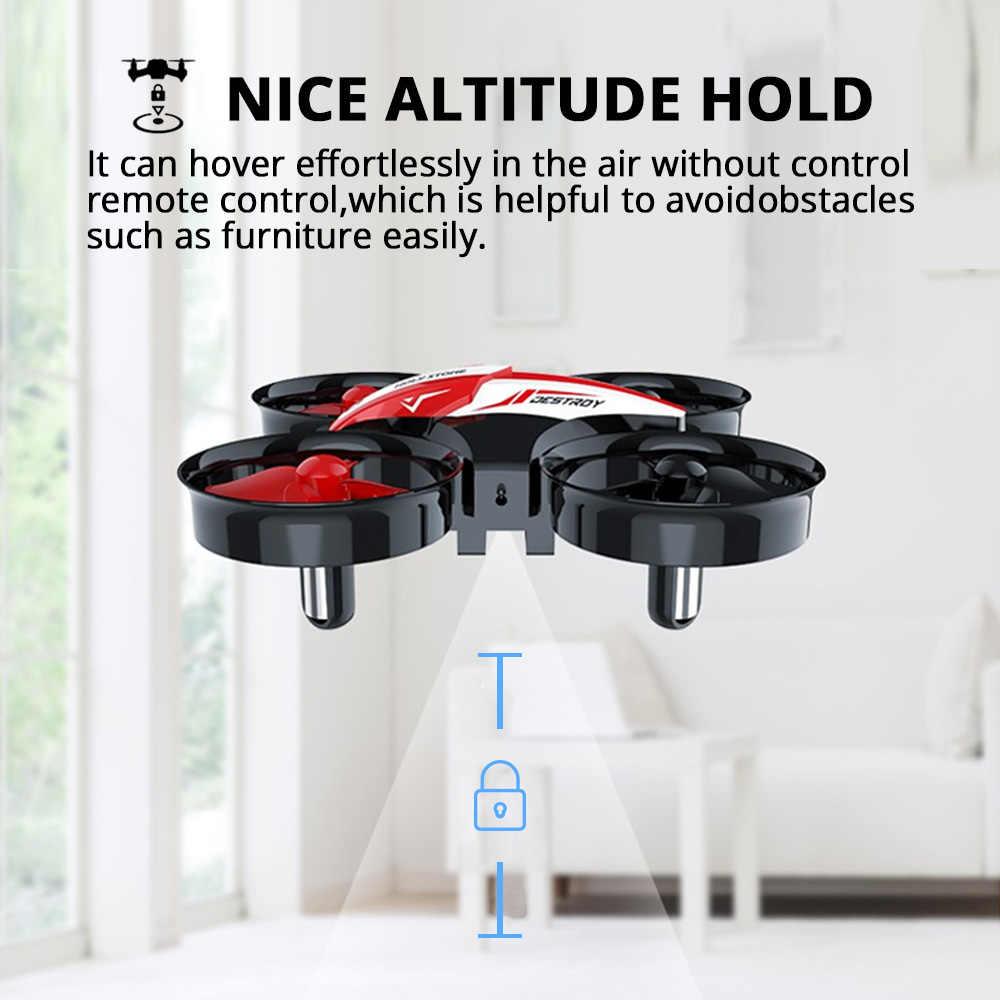 神聖な石 HS210 ミニ RC ドローンおもちゃヘッドレスドローンミニ RC Quadrocopter Quadcopter Dron 1 キー土地自動ホバリングヘリコプター