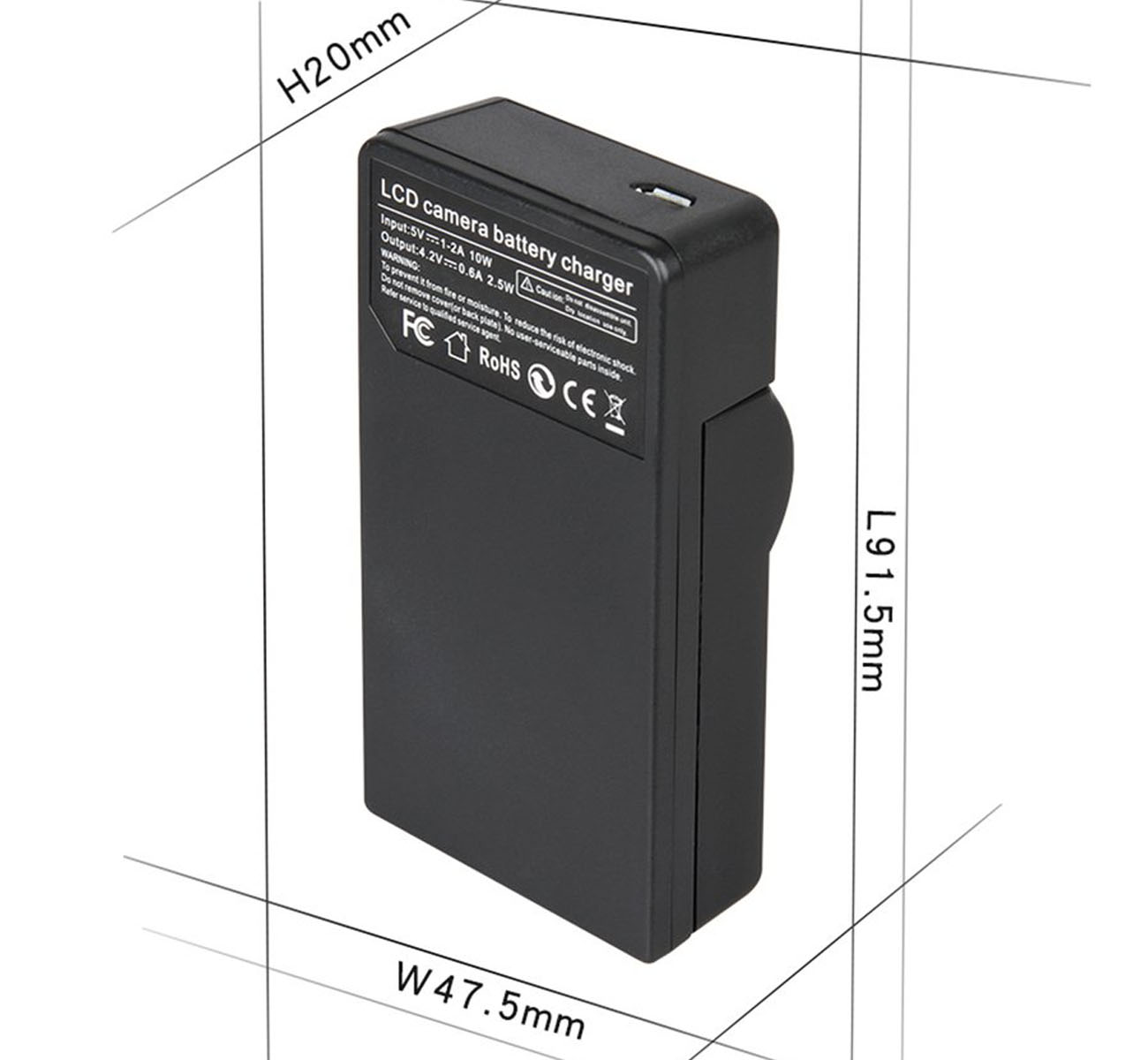 GZ-HM330SEU GZ-HM330SEK HD Flash Memory Camcorder Smart Slim Micro USB Battery Charger for JVC Everio GZ-HM330SE