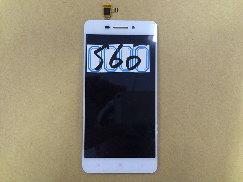 S60 LCD Display+Touch Screen Panel Digital Accessories For Lenovo S60W 5.0 Smartphone White Free shipping+Track Number