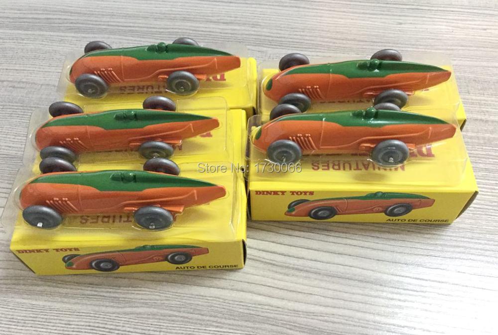 Atlas Dinky Toys 5 pcs of Orange car 23A AUTO DE COURSE Alloy Scale 1 43