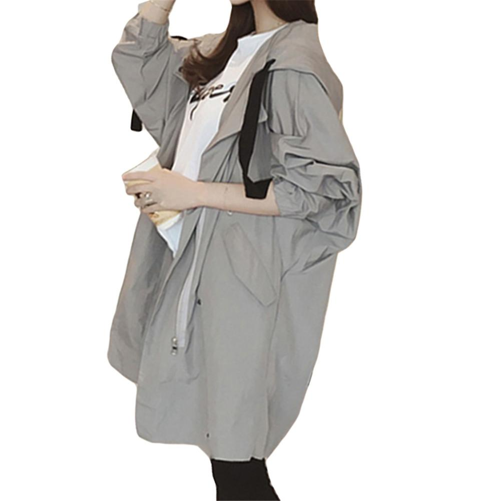Windbreaker Long Coat Women Korean Style Spring Autumn Students Wild New Loose Casual Thin   Trench   vadim women chicever