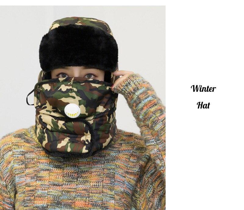 HTB1r74Ie21G3KVjSZFkq6yK4XXaj Winter Thermal Hiking Caps,Camouflage Warm Ear Neck Protector with Breathing Valve,Women Men Sports Ski Hats facemask