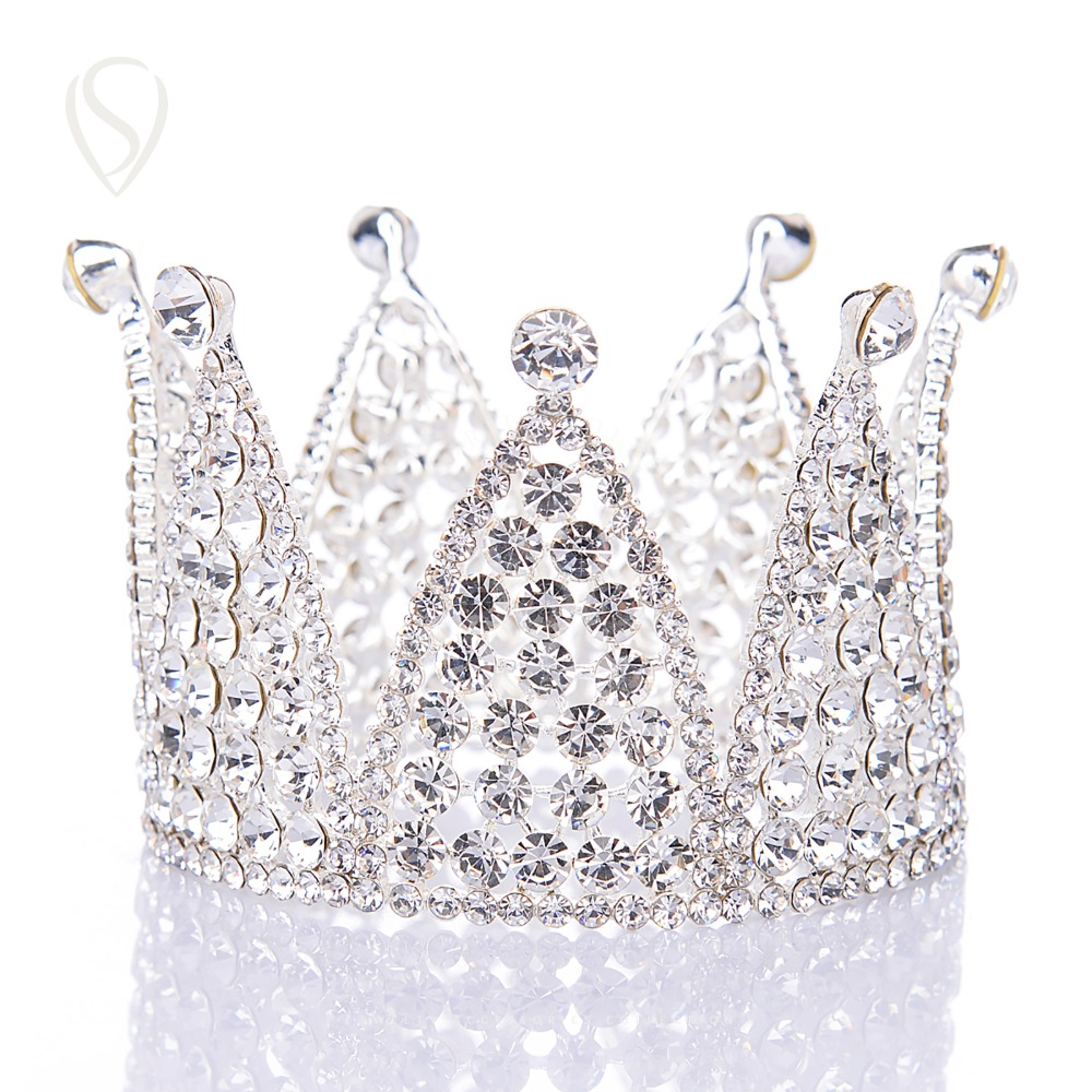 Crowns full circle round tiaras rhinestones crystal wedding bridal - Clearance Sale Full Round Crystal Bridal Tiara Headpieces Rhinestone Crown Women Head Jewelry Decorations For Wedding