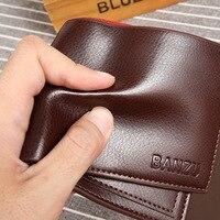 New leather men's leather purse, hand bag, folding zero wallet bag
