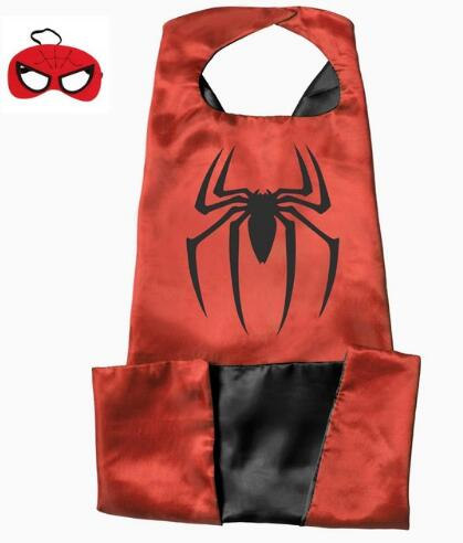 15 styles 110*70cm Adult Superhero capes cape with mask set Satin ...