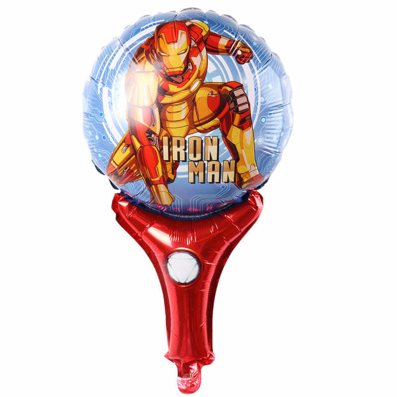 Detail Feedback Questions About Iron Man Handheld Balloons Cute Cartoon Stick Ballons Birthday Party Decorations Child Toys Superman Balloon On
