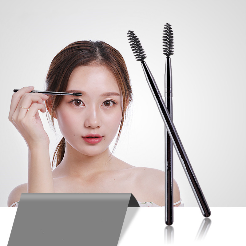 Eye Brushes For Eyelashes Black Eyebrow Hair Comb Brush High Quality Brush For Eyelash Extension in Eye Shadow Applicator from Beauty Health