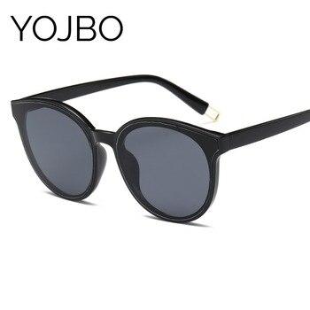 15cd18d0cd002 YOJBO de ronda de gafas de sol de las mujeres 2019 de moda Retro espejo  gafas de sol UV400 Vintage de diseñador de la marca gafas Accesorios