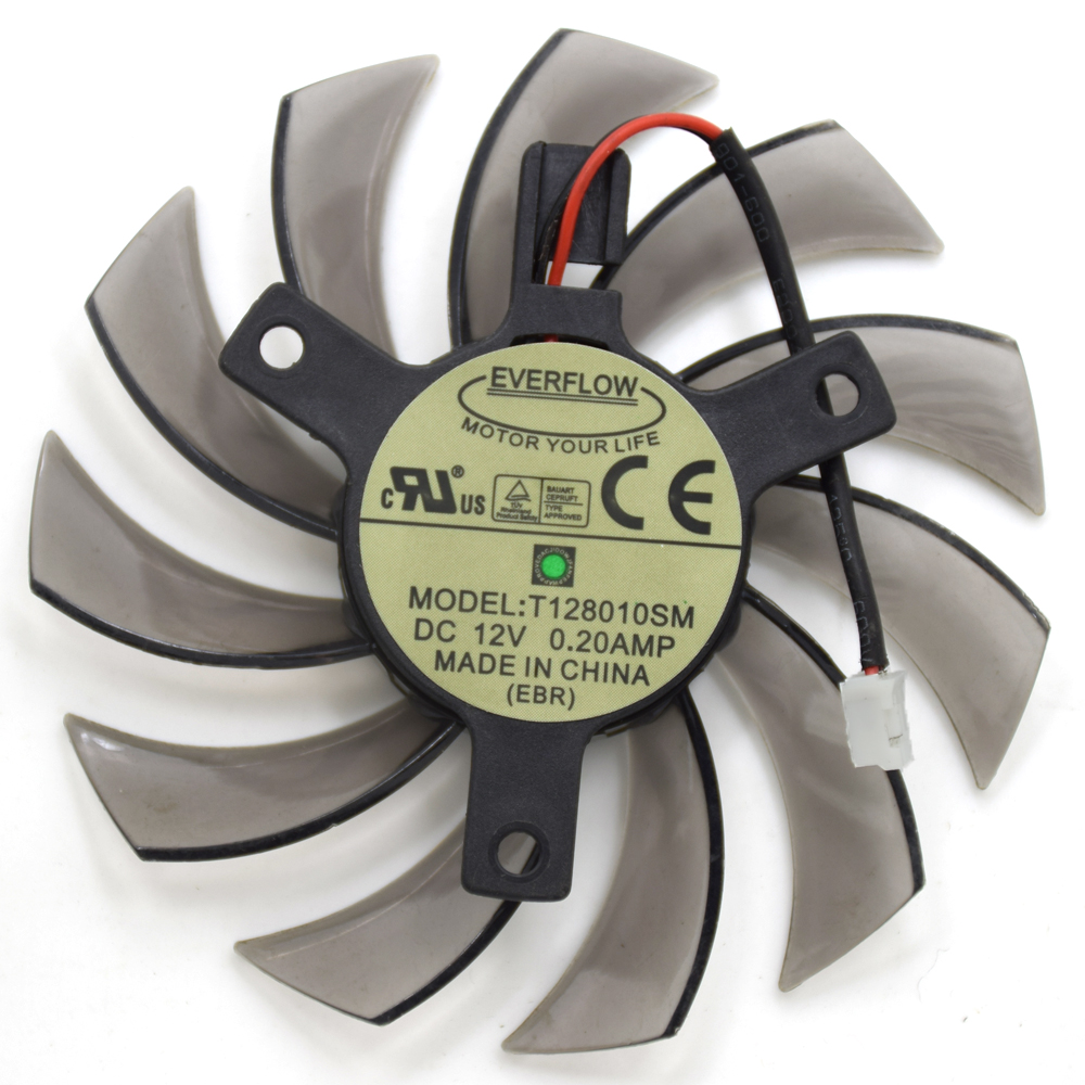 Gigabyte Windforce Series Video Card Cooling Fan EVERFLOW Gigabyte T128010SM 12V 0.2A 2Pin 2 Wire Replacement ATI HD5870 GTX460 delta 12038 12v cooling fan afb1212ehe afb1212he afb1212hhe afb1212le afb1212she afb1212vhe afb1212me
