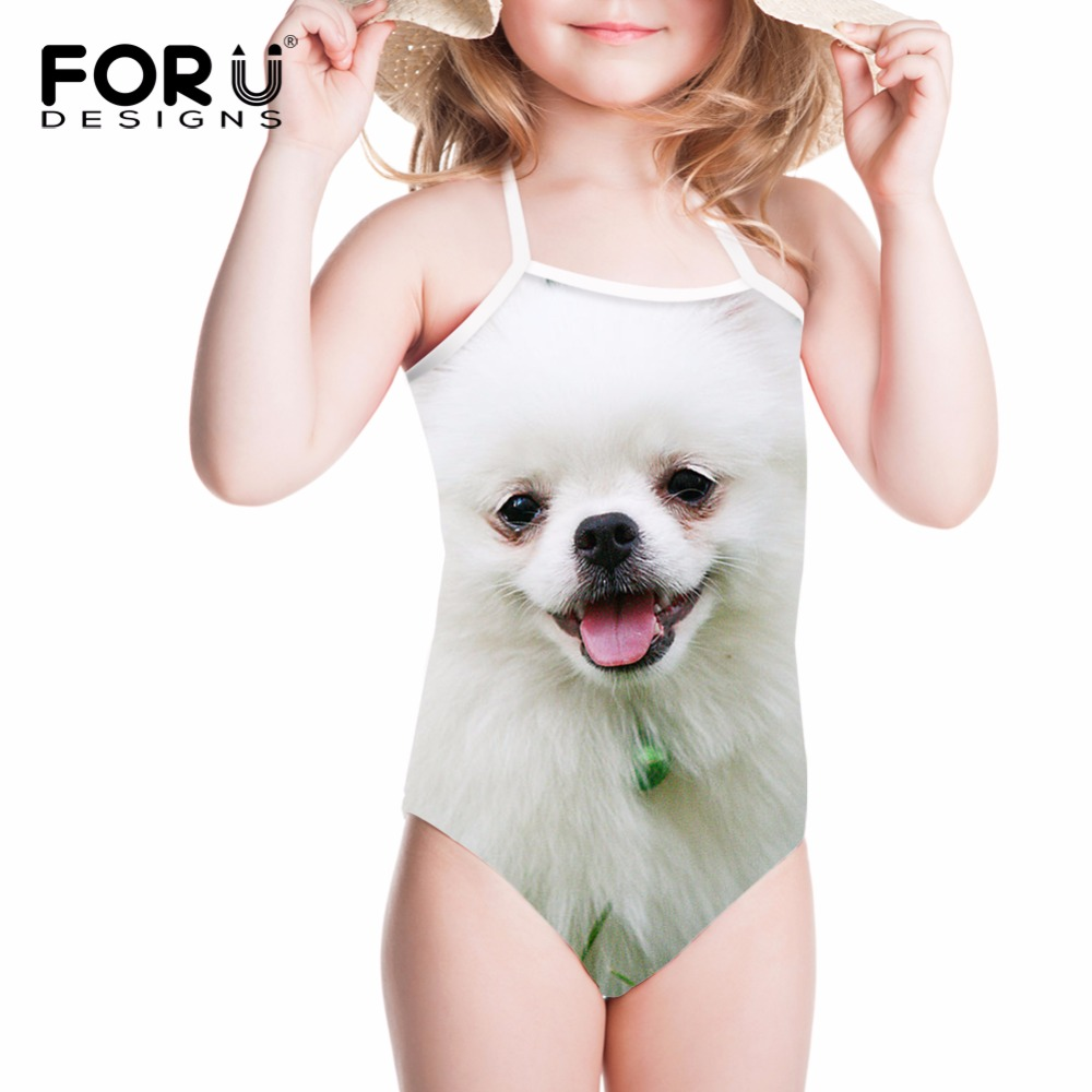 FORUDESIGNS Swimwear Gilrs Swimsuit Children Bikini Kawaii Hiromi Printing One Piece Bathing Suit Kids Swimming Suits for Beach forudesigns one piece swimsuit for girls children swimwear friuts strawberry printing bathing suit baby bikinis kids swim suits