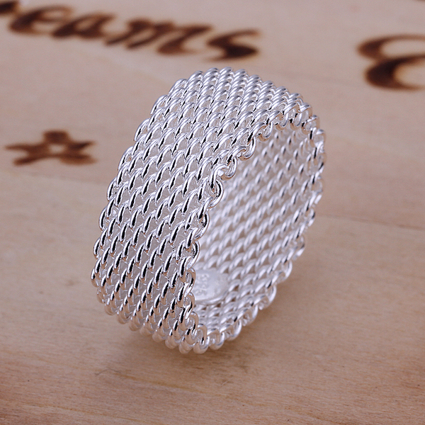 Summer Style Couple Rings 925 Sterling Silver Rings for Women Fine Jewelry Weave Ring Mens Jewellery Fashion Bijoux R040