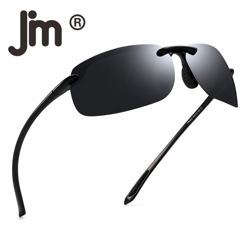 JM Sport Sunglasses For Men Women TR90 Rimless Unbreakable Frame For Running Fishing Baseball Driving