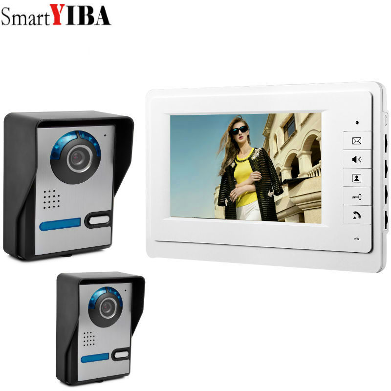 SmartYIBA 7 Wired Video Door Phone Visual Video Intercom Speakerphone Intercom System With 2pcs Waterproof Outdoor IR CameraSmartYIBA 7 Wired Video Door Phone Visual Video Intercom Speakerphone Intercom System With 2pcs Waterproof Outdoor IR Camera