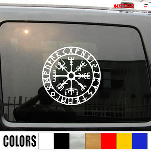 Vegvisir Viking Runic Compass Decal Sticker Viking Odin Norse Norway Vinyl