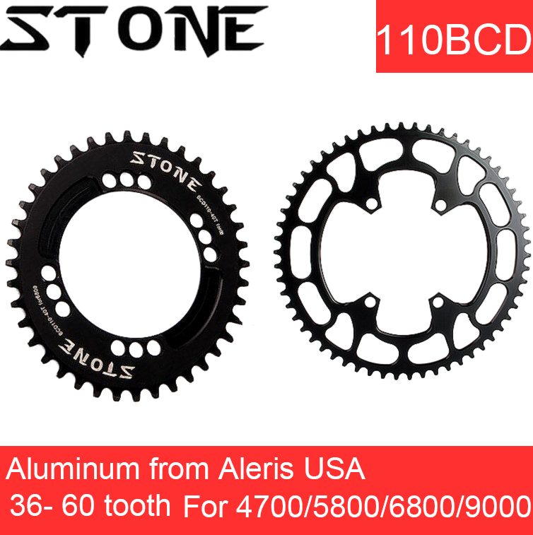 Stone Chainring 110 BCD aero for Shimano 5800 6800 4700 9000 Round Oval 34 36 38 40 42 44 46 48 58T tooth Road Bike Chainwheel