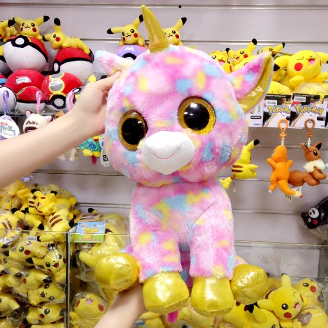 Cute  Big Plush Toys Pink Unicorn Dolls TY Stuffed Animals Doll  Large Child Toy Gift  Pillow  45cm cute animals figure dolls finger puppets plush toys 10 pcs