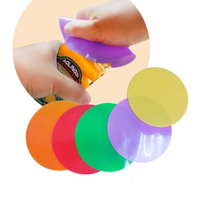 2PCs Non Slip Bottle Opener Pad Waterproof Silicone Solid Openers Pad Tableware Pad Silicone Jar Opener Round Gripper Pad