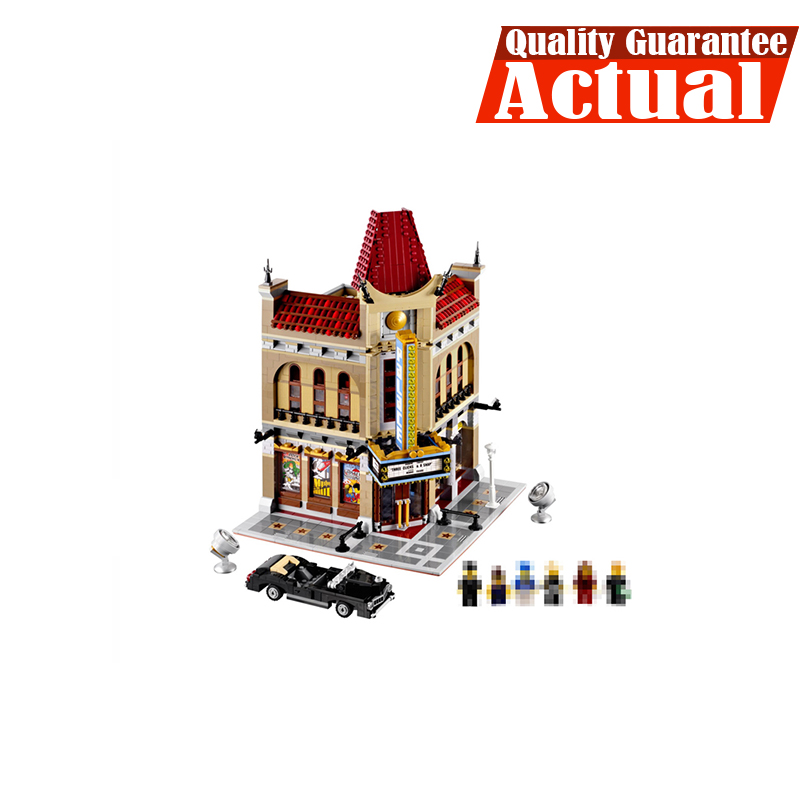 LEPIN 15006 Palace Cinema Street View Creator Building Blocks Bricks Toys DIY For Kids Model Compatible with legoINGly 10232 a toy a dream lepin 15008 2462pcs city street creator green grocer model building kits blocks bricks compatible 10185