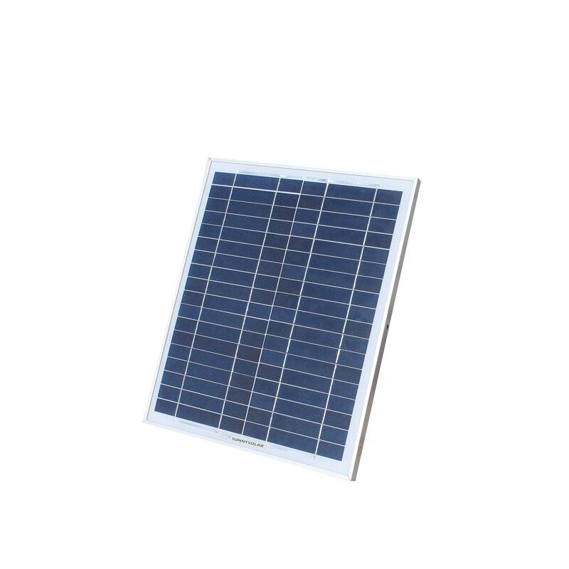 Panneau solaire polycristallin 18V20W charge 12 V energia kit solaire batterie voiture moto batterie génération d'énergie