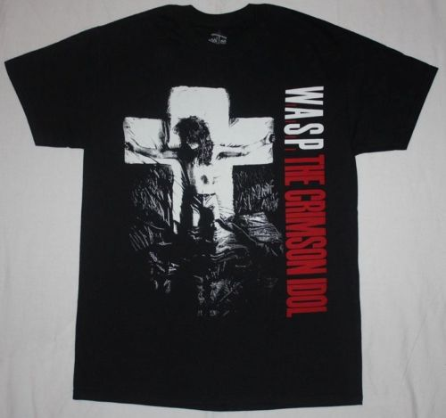 W.A.S.P. CRIMSON IDOL92 WASP HEAVY METAL BAND TWISTED SISTER NEW BLACK T-SHIRT
