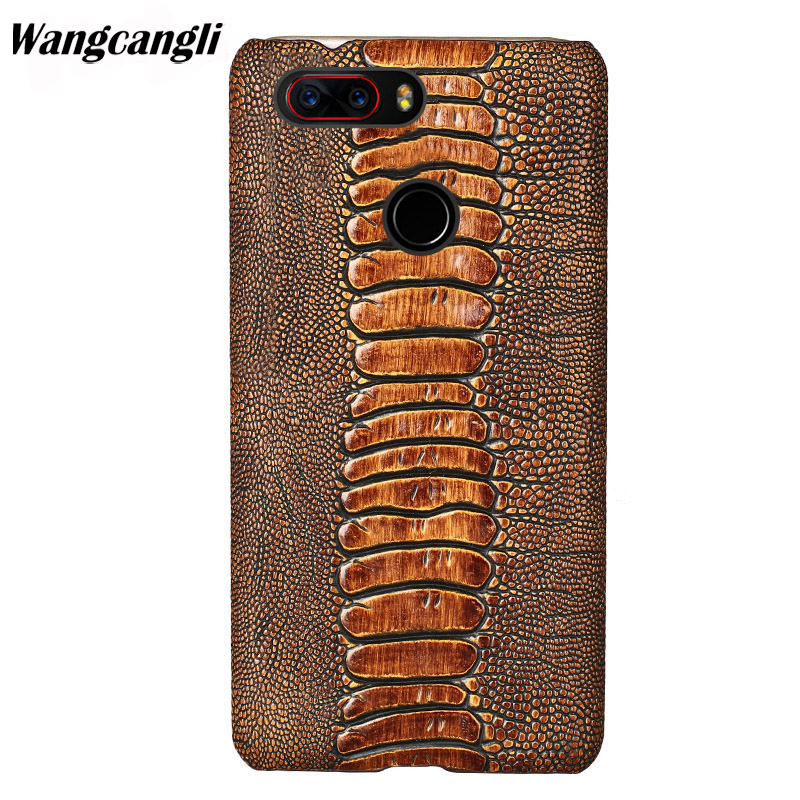 Brand Genuine leather phone case for Nubia Z17 cowhide ostrich foot texture phone case custom made Mobile phone back coverBrand Genuine leather phone case for Nubia Z17 cowhide ostrich foot texture phone case custom made Mobile phone back cover