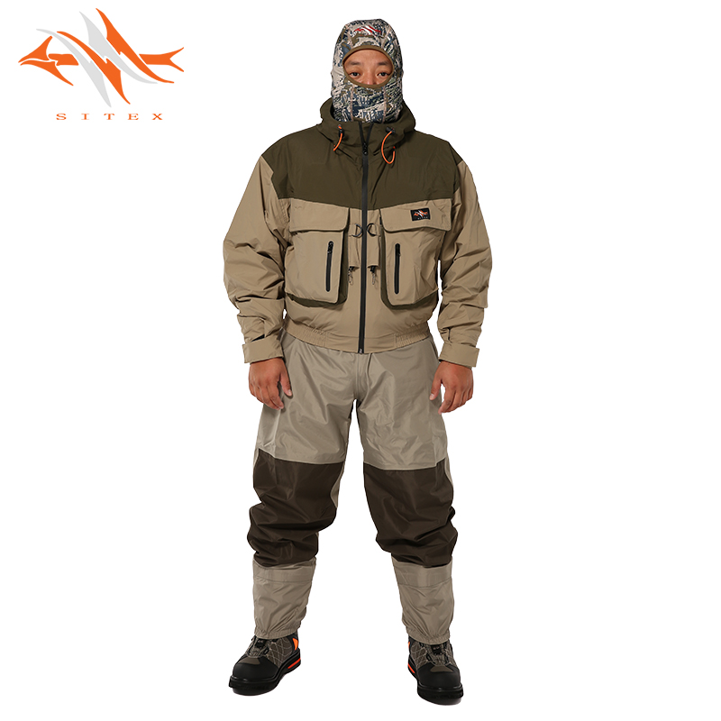 Sitex Wader Jacket Clothing Hunting Waterproof Men's Breathable title=