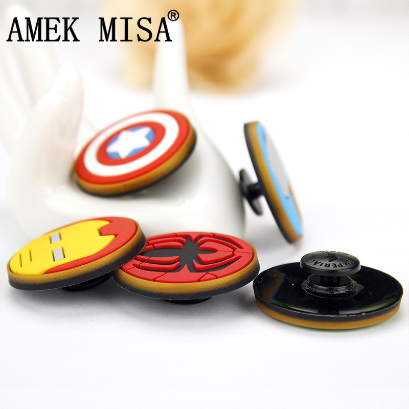 Avengers Shoe Charm Decorations 10Pcs 2 Sets PVC Hero Series Garden Shoe Buckle Accessories Fit Bands/Bracelets/Croc/Wristbands