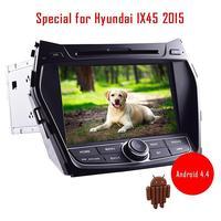 Android 4.4 car dvd player autoradio for Hyundai IX45 2015 EQ built in bluetooth wifi free 3D gps navigation map am/fm radio