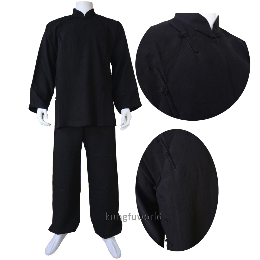 Buddhist Monk Shaolin Uniform Tai Chi Wing Chun Suit Martial Arts Gis Custom Linen 25 Colors Gongfu Clothes