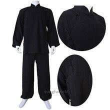 Custom Linen 18 Colors Buddhist Monk Shaolin Uniform Tai Chi Wing Chun Suit Martial arts Gis