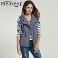 Meaneor Brand Women Casual Hooded Vest Slim Zip Up Spring Fleece Thick Vest Solid Khaki Gray Black Lady Cotton Clothing Clothes