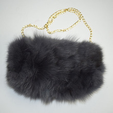 4876dbbf9261 MinShu Brand Real Fox Fur Hand Muff Bag Winter Hand Warmer Real Fur Muff