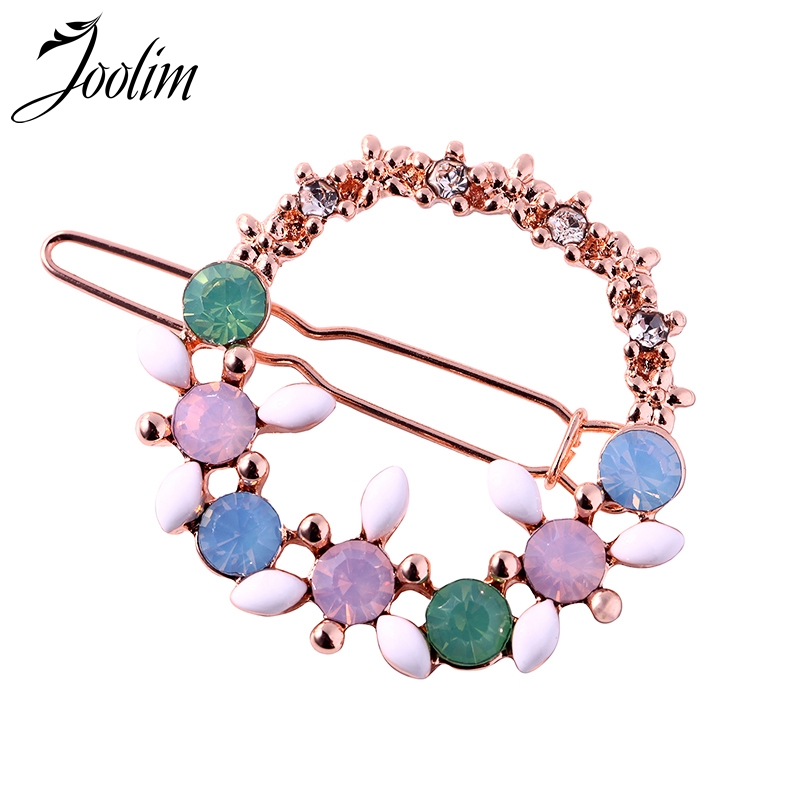 Jewelry Sets & More Joolim Jewelry Wholesale/fresh Pink Green Opal Flower Hair Pin