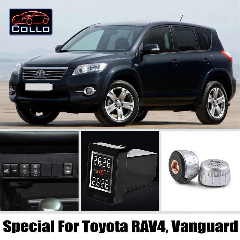 TPMS Khusus untuk Toyota RAV4/VANGUARD/Auto Sistem Pemantauan Tekanan Ban Eksternal Sensor/DIY Instalasi Tertanam